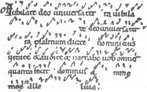 Neumes: How did that go again?