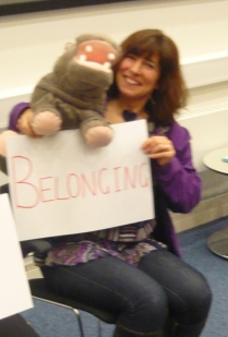 Floddy the Hippo of Belonging: sorry about the camera-shake - it must have been an emotional moment...