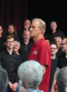 Jim Clancy: Not the best pic I've ever taken, but you can see some of the delight he is bringing to the singers on their faces