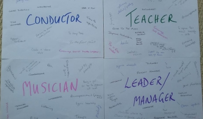 The group's analysis of the conductor's roles