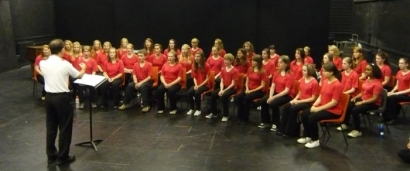 Farnham Youth Choir in open rehearsal