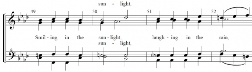 From Tom Gentry's arrangement of 'Young and Foolish'
