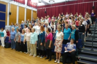The delegates in song