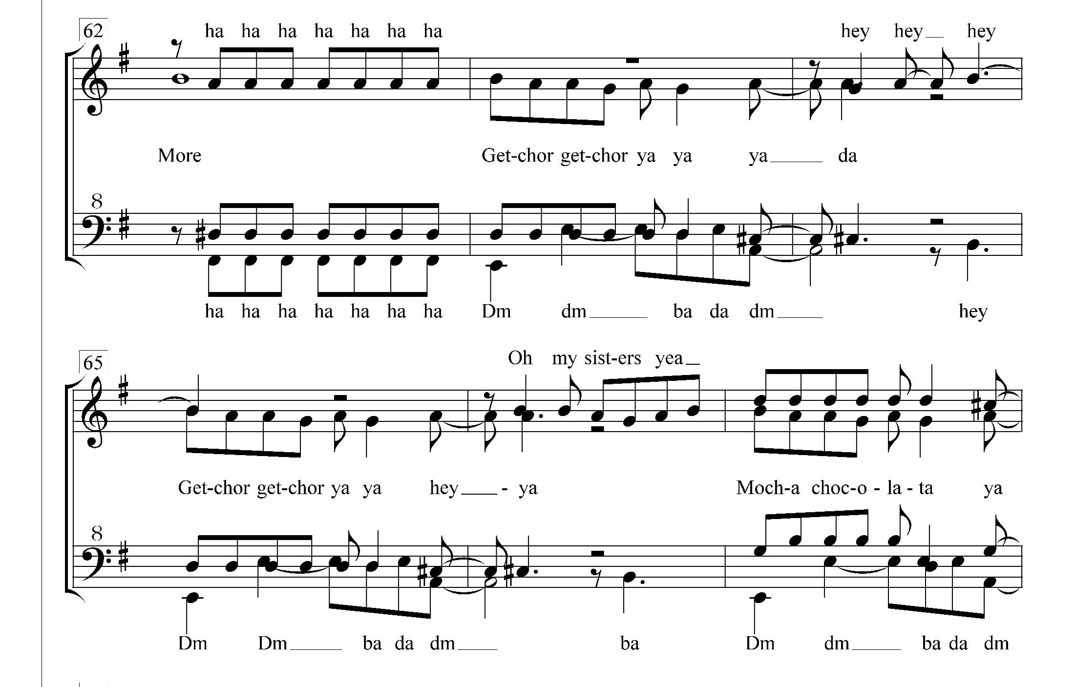 Arranging non-barbershop music for barbershoppers