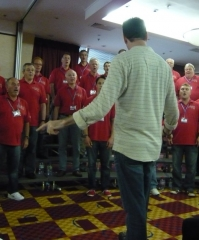 Royce Ferguson with the Cottontown Chorus